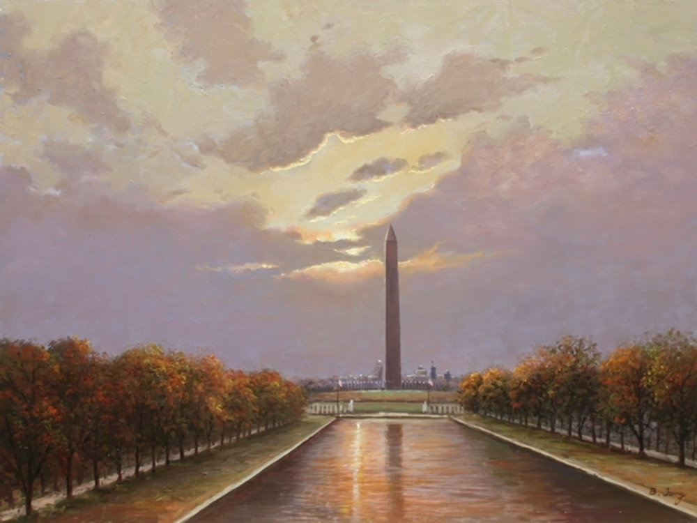 B. Jung - Washington Monument Reflection border=