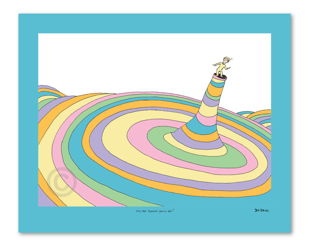 Seuss - Oh The Places You Go-cover illustration border=