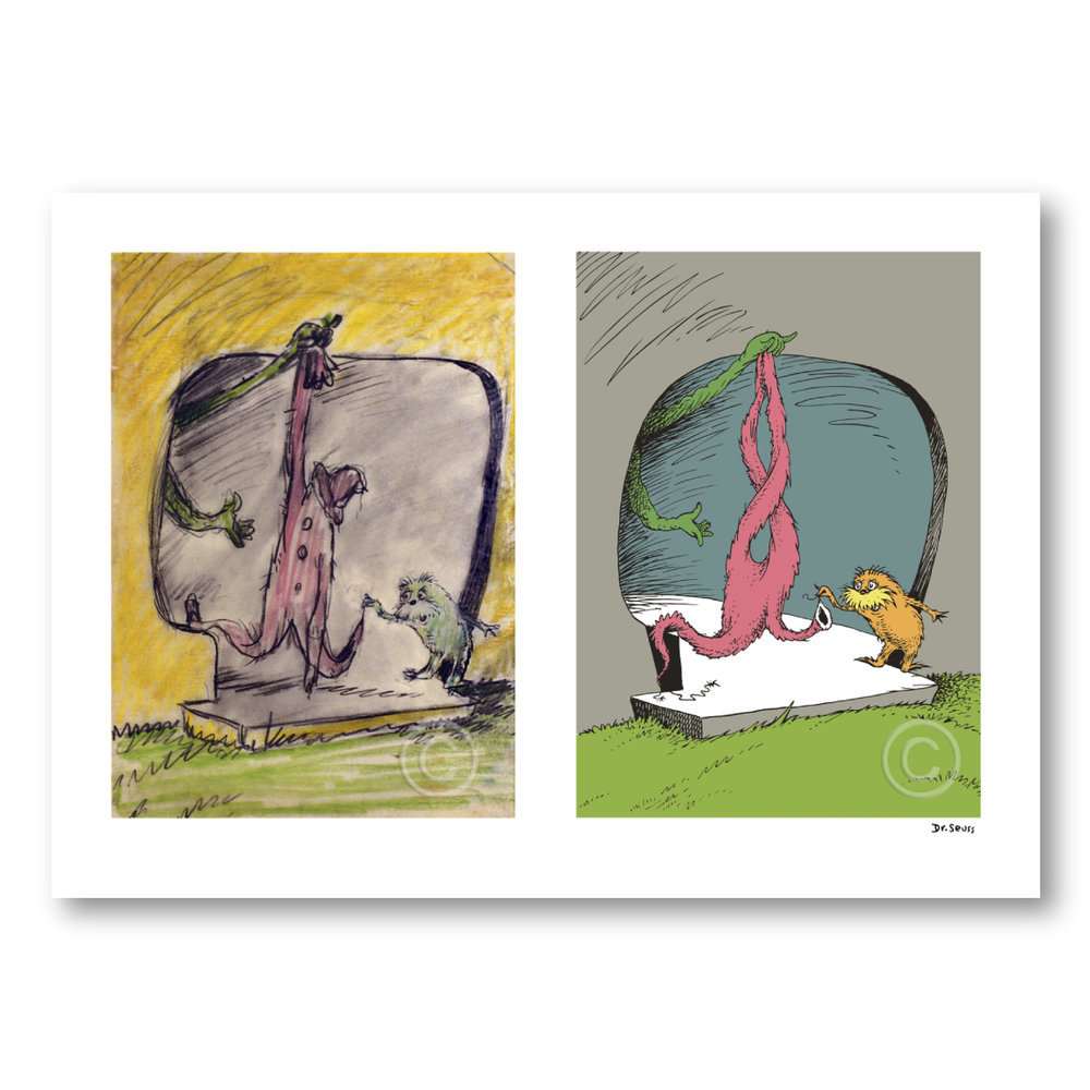Seuss - A Thneed's A Fine Something That All People Need Diptych border=