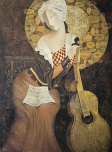Title: Music Becomes Her , Medium: giclee on canvas