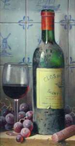 Title: Clos Du Marquis 1990, Saint Julien , Size: 15x8 , Medium: oil on board