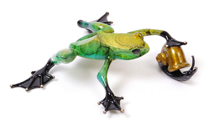 Title: Pond Pals , Size: 2x7.75x7 , Medium: bronze sculpture