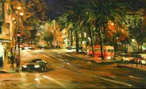 Title: San Francisco , Size: 10x16 , Medium: oil painting on canvas