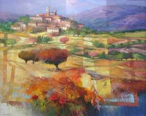Title: Le Chateau , Size: 32x40 , Medium: oil painting on canvas