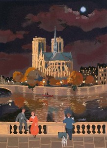 Title: Notre Dame (grand monuments) , Medium: serigraph