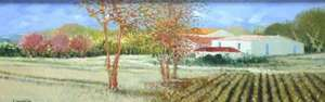 Title: L'Automne Discret , Size: 10x30 , Medium: oil painting on canvas