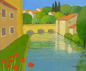 Title: Petit Pont , Size: 18x21.75 , Medium: oil painting on canvas
