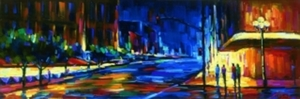 Title: Uptown , Size: 50x16.25 , Medium: giclee on canvas-emb.