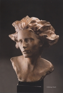 Title: Awakening-female , Medium: bronze sculpture