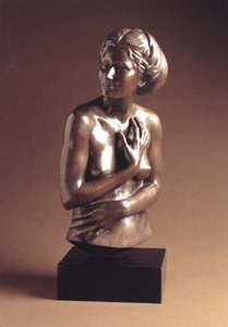 Title: Study of the Artist's Wife , Medium: bronze sculpture