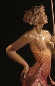 Title: Chantilly , Size: 50H , Medium: bronze sculpture