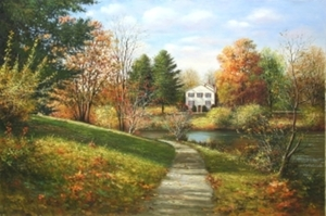 Title: Autumn Colors , Size: 20x30 inches , Medium: oil painting