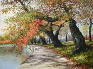 Title: Changing of Seasons , Size: 18x24 , Medium: oil painting on canvas