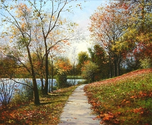 Title: Colors of Fall , Size: 22 x 26 , Medium: oil painting