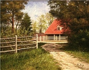 Title: Pathway to Mt. Vernon II , Size: 11x14 , Medium: oil painting