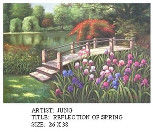 Title: Reflection of Spring , Medium: oil painting