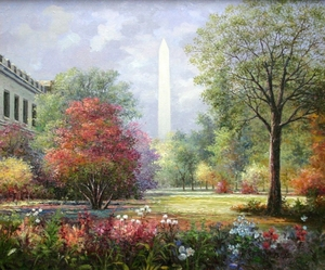 Title: Spring In Washington , Size: 20x24 , Medium: oil painting on canvas