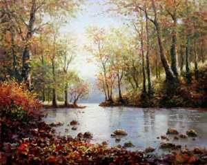 Title: Warmth of Fall , Size: 16x20 , Medium: oil painting on canvas
