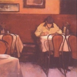 Title: Dining Alone , Medium: serigraph