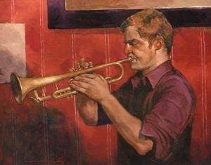 Title: High Notes , Size: 16x20 , Medium: oil on board