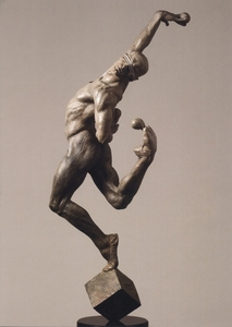Title: Leap of Faith 1/2 , Size: 45X13X19 , Medium: bronze sculpture