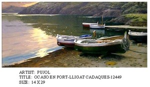 Title: Ocaso En Port-LLigat Cadaques , Medium: oil painting