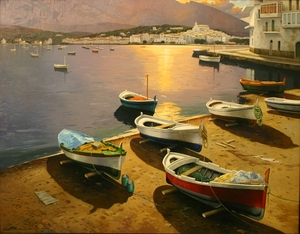 Title: Puesta de sol Rojida-16388 , Size: 45x57 , Medium: oil painting