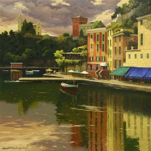 Title: San Giorgio, Portofino , Size: 32x32 , Medium: oil painting