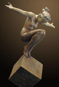 Title: Benevolence , Size: 43x42x24 , Medium: bronze sculpture