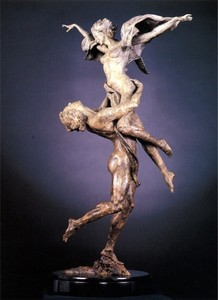 Title: Rapture , Size: 36x19x16 , Medium: bronze sculpture