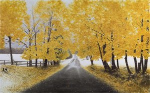 Title: First Snowfall , Size: 30x46 , Medium: giclee on canvas-emb.