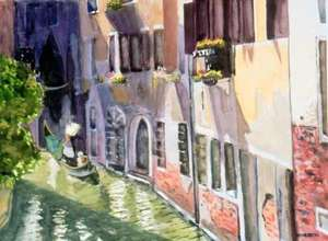 Title: Gondola, Venice , Medium: giclee on paper