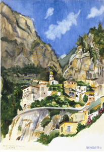 Title: Positano, Italia , Medium: giclee on paper