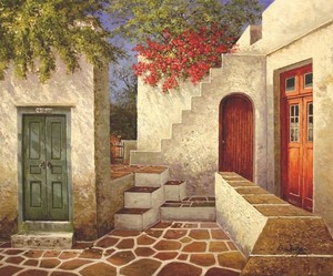 Title: Colors of Mykonos , Size: 20 x 24 , Medium: oil painting